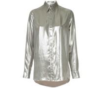 Hemd in Metallic-Optik