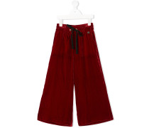 velvet tie-waist trousers