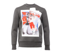 Sweatshirt mit Cover-Print