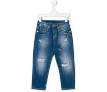 Jeans in Distressed-Optik - kids - Baumwolle