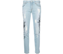 embroidered applique jeans