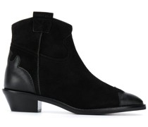 leather panelled ankle boots