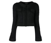 Cropped-Jacke mit ausgestellten Ärmeln