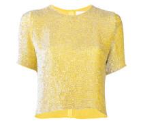 T-Shirt mit Paillettenstickerei - women - Seide
