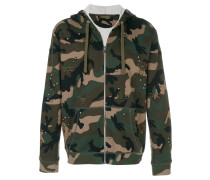 bug patch camouflage zip hoodie