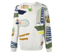 Sweatshirt mit Hotel-Print - men - Baumwolle - M