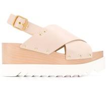'Elyse' Sandalen mit überkreuzten Riemen