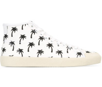 High-Top-Sneakers mit Palmen-Print