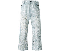 Jeans in Distressed-Optik - men - Baumwolle - L