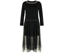 Verziertes Kleid im Layering-Look