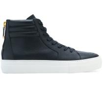zip back hi-top sneakers