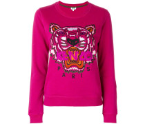 Sweatshirt mit Tigerstickerei