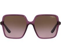 gradient-effect oversize-frame sunglasses