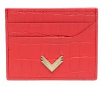 x Velante Kartenetui mit Logo-Prägung