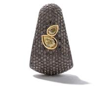 18kt Goldohrring mit einem Diamanten