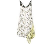 Asymmetrisches Kleid mit Blumen-Print