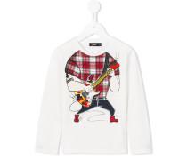 Langarmshirt mit Gitarristen-Print