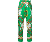 P.A.R.O.S.H. Tapered-Hose mit Print