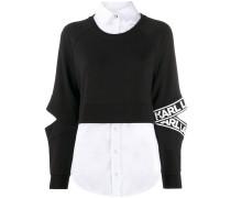 Popeline-Sweatshirt
