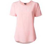 Seiden-T-Shirt mit rundem Ausschnitt