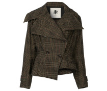 fitted double-breasted jacket