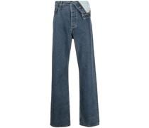Asymmetrische Jeans mit Umschlag