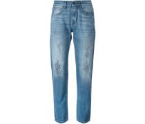 Boyfriend-Jeans mit Distressed-Optik