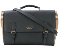 house check satchel bag