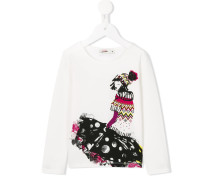 Langarmshirt mit Mädchen-Print