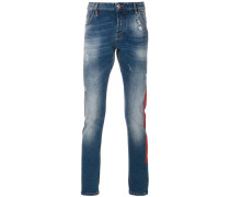 logo print slim-fit jeans