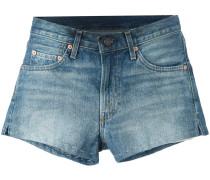 Jeans-Shorts mit Ziernähten