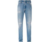 distressed slim-fit jeans - women - Baumwolle