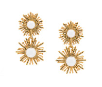 pearl sun star pendant earrings