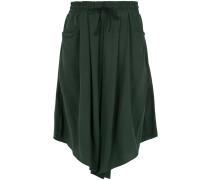 silk wide bermuda shorts