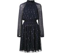 Verziertes Kleid mit Stehkragen
