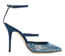 Rihanna x Manolo 'Sea Salts' Riemchenpumps