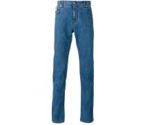 Skinny-Jeans mit Paisley-Print