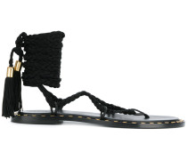 ankle tied sandals