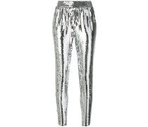 sequined tapered trousers