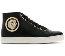 High-Top-Sneakers mit Löwenkopf-Detail