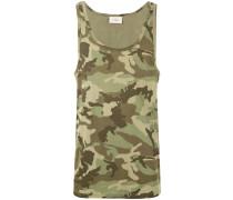 'Rye' Trägershirt mit Camouflage-Print