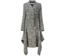 Tweed-Mantel mit Bindegürtel