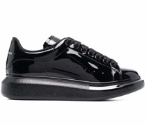high-shine low-top sneakers