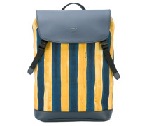 watercolour striped backpack