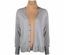 chunky-knit roll neck jumper