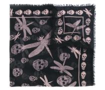 Schal mit Libellen-Print