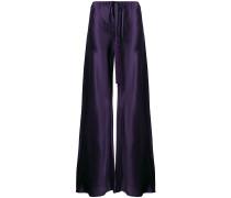 high-waisted tassel palazzo trousers