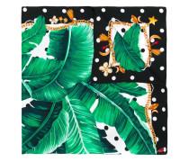banana leaf print scarf