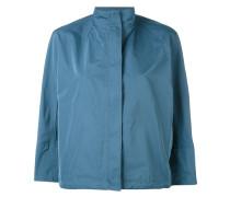 Cropped-Jacke mit weitem Stehkragen