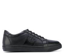 - perforated lace-up sneakers - men